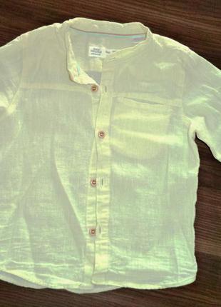 Оригинальная рубашка-тенниска zara babyboy