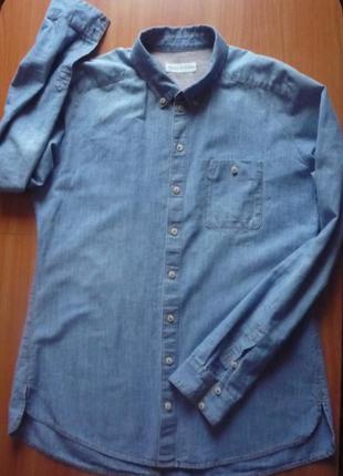 Стильная рубашка легкий деним оригинал