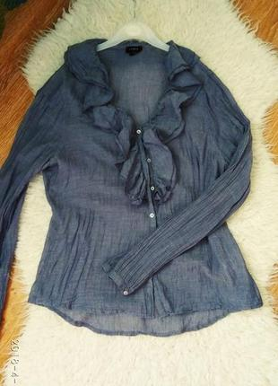 Блузка рубашка lindex с рюшами