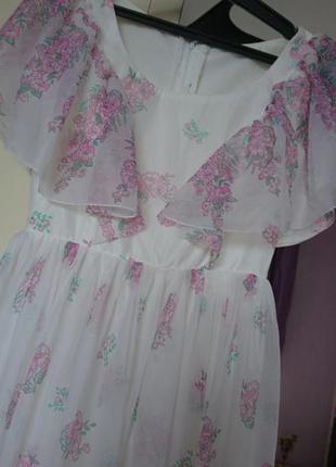 Шикарное платье в цветы ,летний сарафан,платье в пол ,платье миди