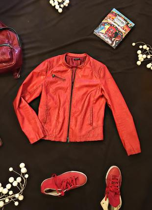 Новая курточка promod из эко-кожи