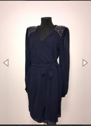 Красивое платье из шифона с подкладкой warehouse