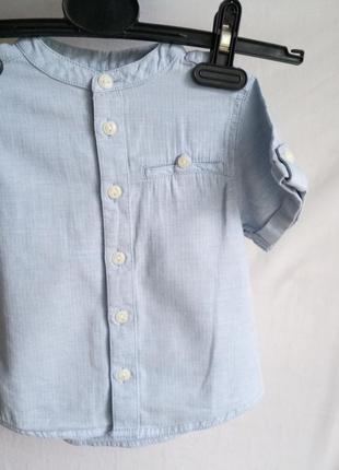 Легкая летняя рубашка без воротника 3 года