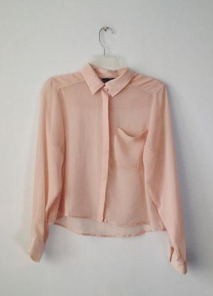 Вкорочена шифонова блуза h&m