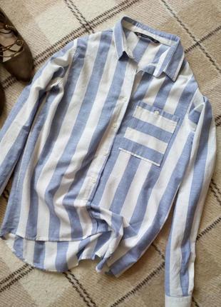 Рубашка zara хлопок из последней колекции