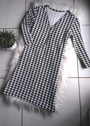 Плаття-трапеція,платье гусяча лапка италия