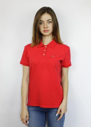 Оригинальная polo яркая красная поло футболка lacoste