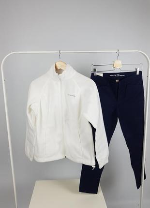 Белая бежевая кофта флиска мастерка columbia размер m-l