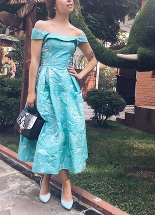 Вечернее платье колекция андре тан из жаккарда