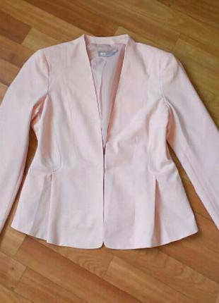 Жакет пиджак пудровый asos