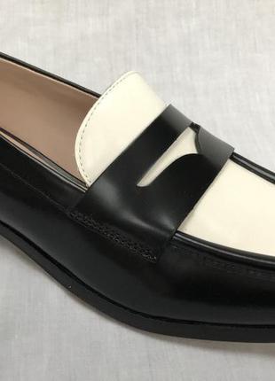 Кожаные женские туфли clarks 37.5 р.