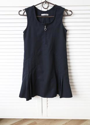 Платье-сарафан-школьное платье,темно-синий цвет,6-8лет,122-128см