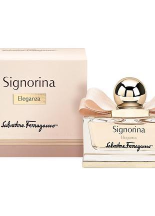 Salvatore ferragamo signorina eleganza парфюмированная вода оригинал мини 5мл