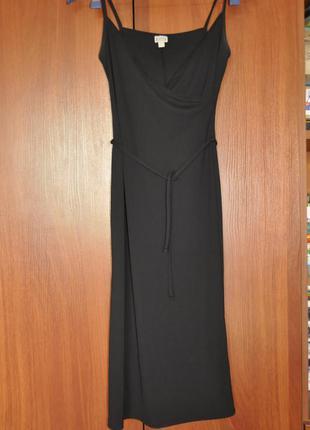 Черное миди платье, сарафан etam