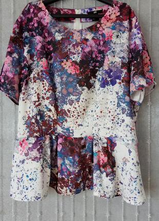 Блуза h&m в цветочный принт