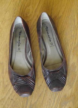 Туфлі шкіряні розмір 40 стелька 26,3 см tamaris
