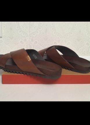 Кожанные мужские шлепанцы, сандалии испанской фирмы picalinos