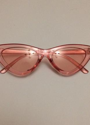 Нежные розовые очки- кошечки