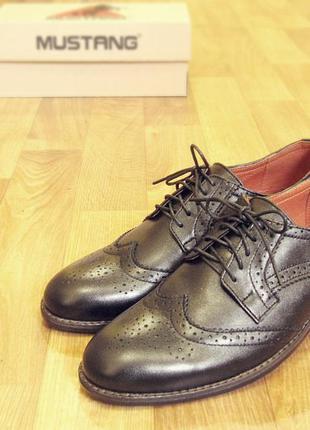 Мужские туфли, броги, чёрная кожа (код  082 кожа) 40,41,42,43,44,45 ... e882b4818f4