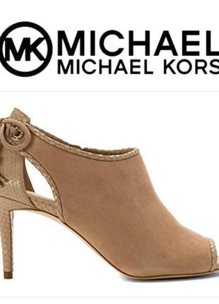 Michael kors ботильоны босоножки летние размер 10mus кожа оригинал из сша🗽