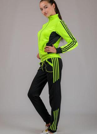 Женский трикотажный красивый спортивный костюм, р-р s,m,l,xl,xxl (44-52)