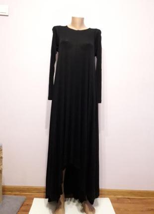 Платье черное  длинное трикотажное cos