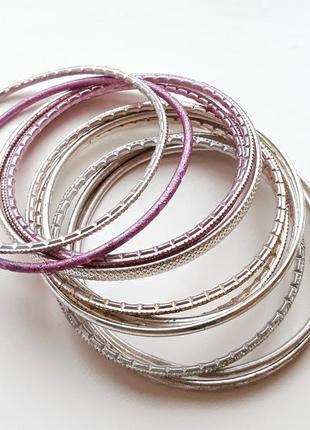 Тонкие летние золотые браслеты кольца accessorize
