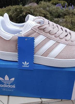 Пудровые кроссовки с белыми вставками 36;37;38;39;40