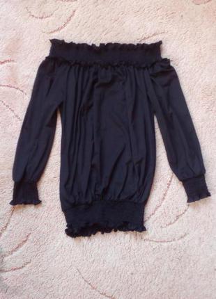 Стильная блуза кофточка с открытыми плечами (есть обмен)