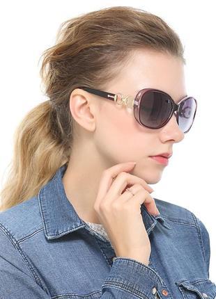 Классические элегантные очки цвет баклажан/слива