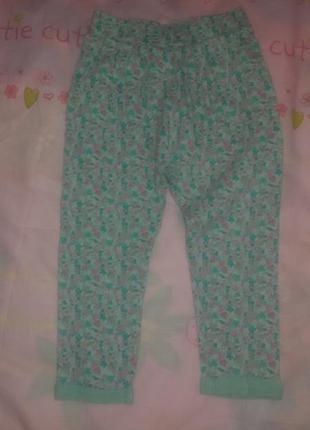 Крутязные детские летние штанижки next (некст) на девочку 2-3 года