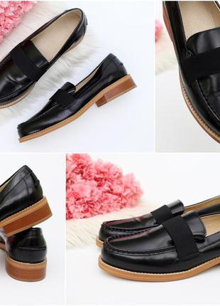 Новые шикарные лоферы, туфли - кожа!!!