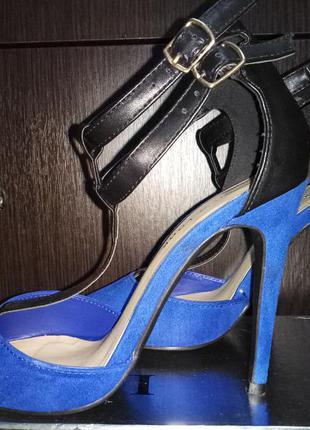 Босоножки туфли эко-замша