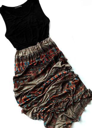 Красивое стильное вискозное трикотажное длинное платье-борцовка макси от atmosphere