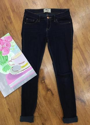 Темно синие узкие джинсы ltb