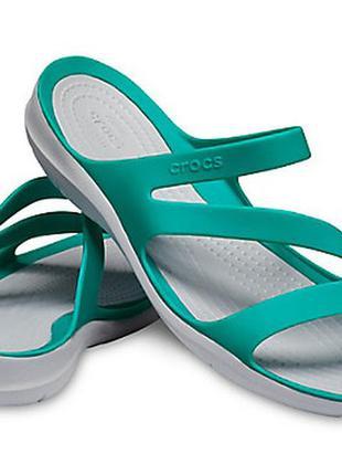 Crocs swiftwater sandal w5 w6 крокс шлепанцы сандалии мята