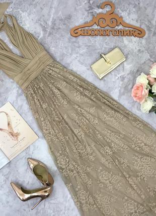 Легкое платье в пол с фатиновой юбкой  dr1816249  zara