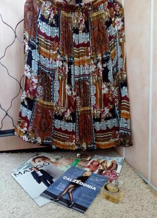 Актуальная плиссированная юбка абстрактный принт