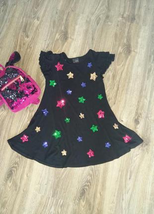 Платье туника с паетками от next