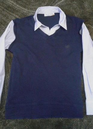 Рубашка -жилетка обманка
