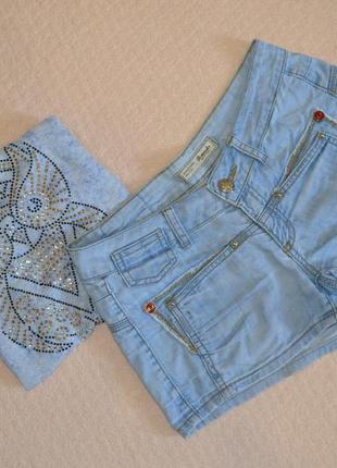 Джинсовые шорты r.marks + футболочка в подарок