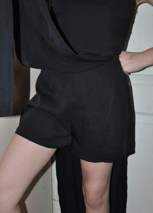 Черный нарядный комбинезон ромпер missguided