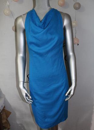 Синие миди платье zara