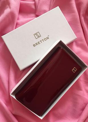 Женский красный лаковый кошелёк bretton