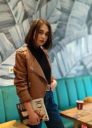 Кожаная курточка от h&m