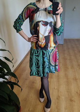 Платье из натуральных тканей 100% хлопок
