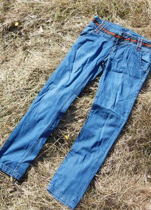 New jeans fashion 40-42 стильные летние джинсы галифе скинни дудочки под широкий пояс