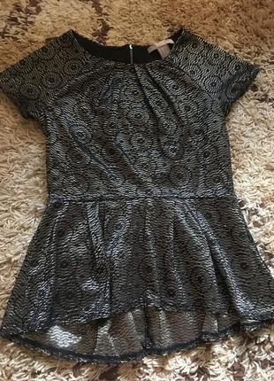 Шикарная ажурная блуза forever 21