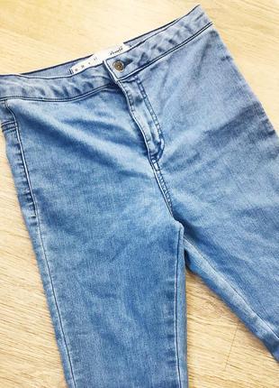 Светлые джинсы скинни высокая посадка denimco h&m