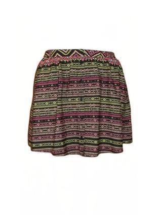 Летняя юбка принт atmosphere, расклешенная юбка клеш